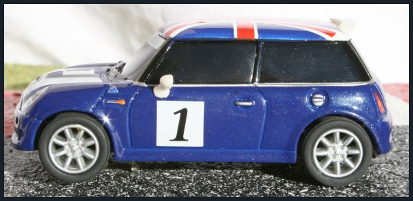 Mini Cooper Racing blue left