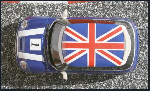 Mini Cooper Racing blue UK flag top