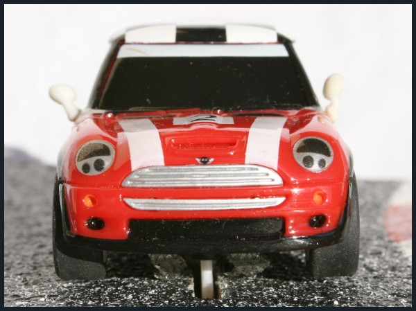 Carrera go!!! Mini Cooper Checkers red