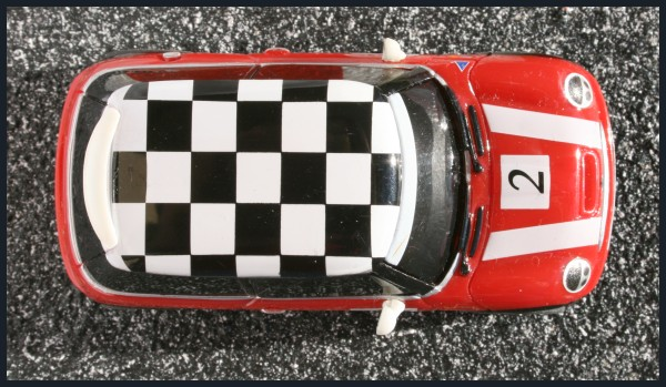 Mini Cooper Racing top Checkers red